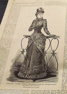 The DELINEATOR Original 1884 BUTTERICK Victorian SEWING Pattern Catalog Magazine