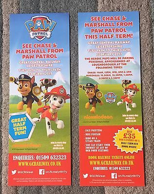 Paw Patrol Flyer - Great Central Railway, Leicestershire 2017