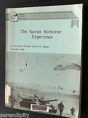 The Soviet Airborne Experience Combat Studies Military History Book 8 MAPS