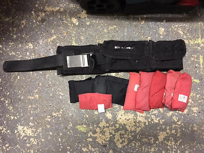 Weight belt with 12kg lead shot diving weights mixed bags