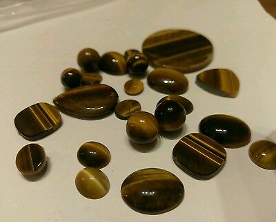 Collection Of Tigers Eye Loose Stones