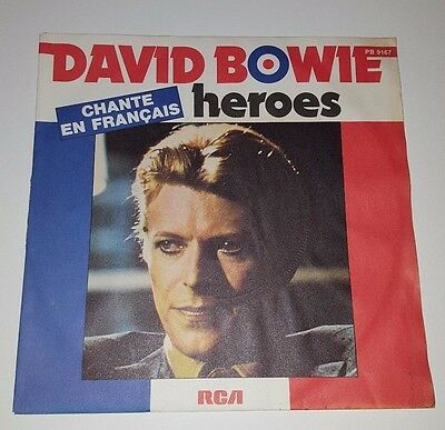 "David Bowie Heroes (French) 7"" Vinyl"