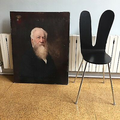 Late 18th Century large  Oil painting portrait of nobel gentleman signed