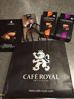 Robbie Williams Brits Icon Award Concert Goodie Bag Cafe Royal coffee expresso
