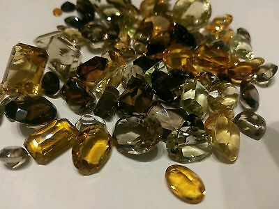 Collection Of Loose Smokey Quartz, Citrine & Other Brown Stones