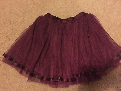 Marks And Spencer Baby Girls Burgundy Skirt Ballet Tutu With Tulle 12-18 Months