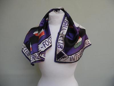 Vintage 1909 - 1965 Internazionale FC Inter Milan Commemorative Scarf (Silk?)