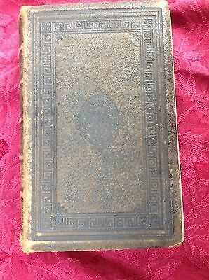 Antique Holy Bible 1859 with Illustrations Plates Oxford University Press