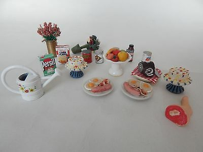 Dolls House Cakes , English Breakfasts , Tins / Packets , Flowers , Watering Can