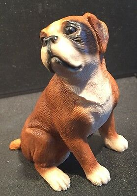 """LITTLE PAWS - Boxer Dog Figurine, Brilliant Detail - Made In Italy.  3.5"""" Tall."""