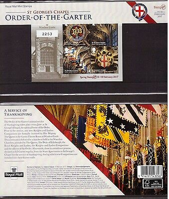 GB Great Britain, 2017 Stampex Windsor Castle limited edition sheet   -BF51