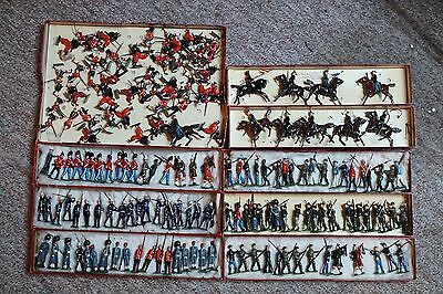 Large Britain Lead Toy Soldiers Lot ( 167 Pcs.) Mixed  A645