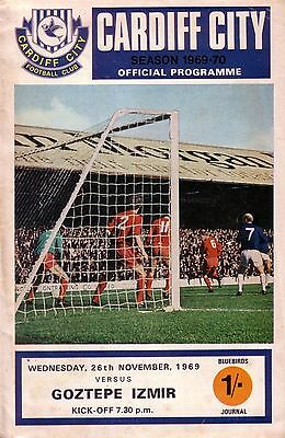 CARDIFF v GOZTEPE IZMIR 1969/70 CUP WINNERS CUP