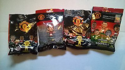 Four Manchester United  Soccerstarz Figures,  Three  In Sealed Packets