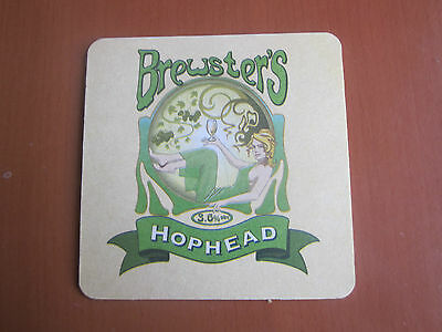 Beer Mat - Hophead, Brewster's Brewery, Grantham, Lincolnshire