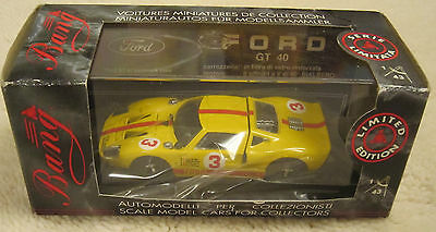 BANG 1:43 SCALE DIECAST FORD GT40  MINT IN BOX PR507 No3