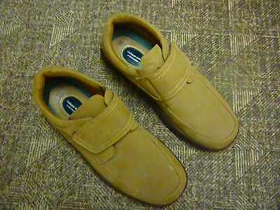 Mens Cushion Walk Brown Suede Type Gel Pad Comfort Velcro Fasten Size 10 - New