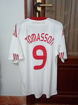 #9 TOMASSON, DENMARK National Team MATCH WORN away shirt used in 2009-11 seasons