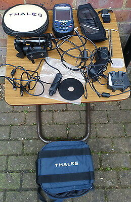 2) Cased Thales ProMark 3 Receiver Unit GPS L1 Antenna & Related Accessories