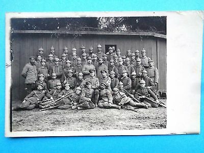GROUP OF GERMAN 1st WW SOLDIERS  1915 EARLY POSTCARD