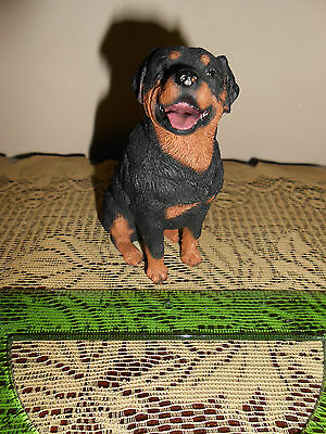 "Rottweiler Dog Figurine, Living Stone, 3-1/2"" X 2"" at base , New"