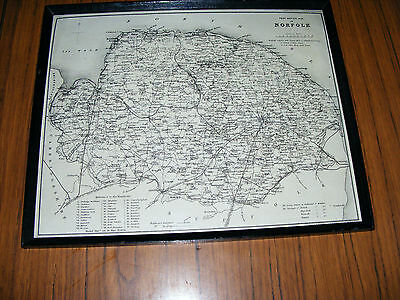 Post  Office  Antique  Map Of  Norfolk  Printed By Cheffins Drawn By B.R. Davies