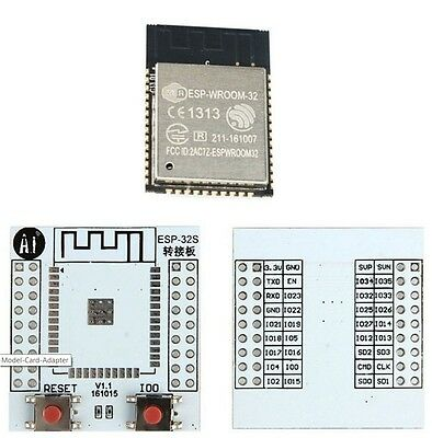 Espressif ESP32 ESP-WROOM-32 CE and FCC marked with free adapter board