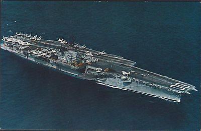 Military Shipping. U.s.s. Saratoga. 1956 Aircraft Carrier. Interesting. Rppc