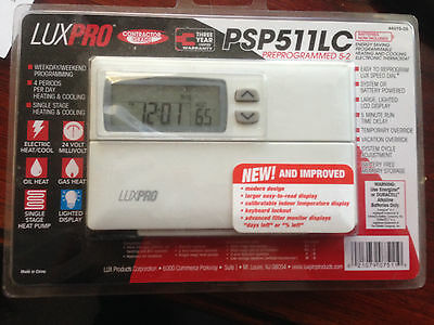 New LuxPro PSP511LC-Programmable Thermostat