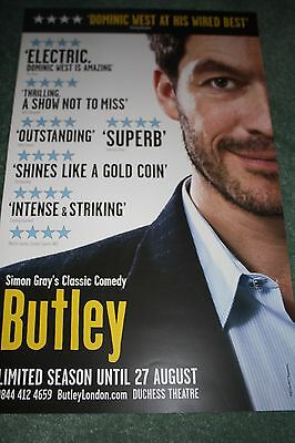 Butley West End theatre poster Dominic West Duchess Theatre