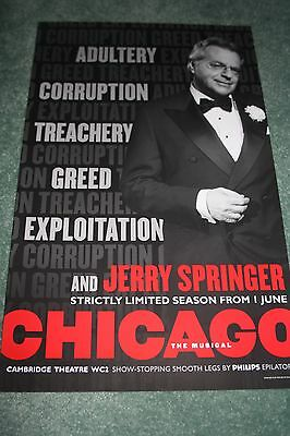 Chicago West End theatre poster Jerry Springer musical