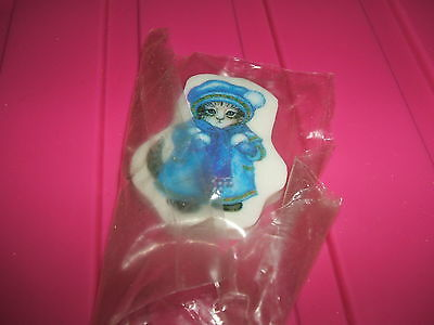 RARE VINTAGE 1980s SEALED CAT CHARACTER ERASER RUBBER - COMBINED POSTAGE