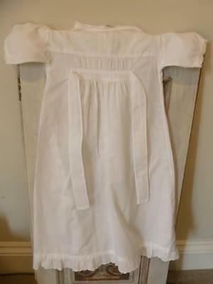 3 x Vintage Cotton Christening Gowns Nightdresses Embroidery Anglaise 1940s