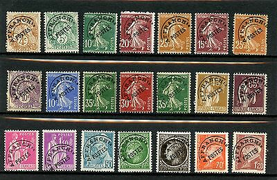 France  Precancels Pre-oblitieres Old Collection 21 stamps Mint and Used