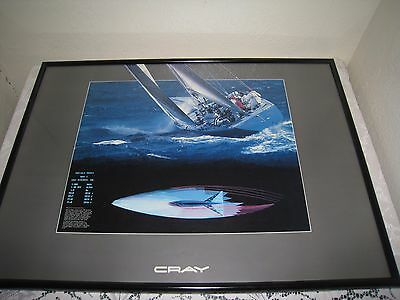 """Rare Cray Research Super Computers Framed print 33"""" X 24"""""""