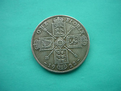 George V Silver Florin 1922 (Struck in 0.500 Fine Silver) FREE POST