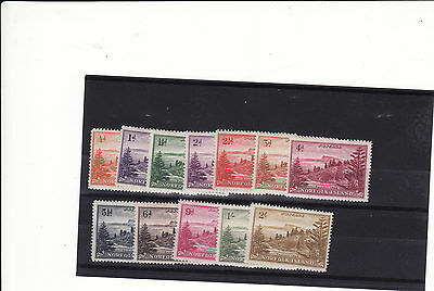 Norfolk Island - 1947-59 Selection Of 12 Mm Stamps 1/2 Heavily Mounted