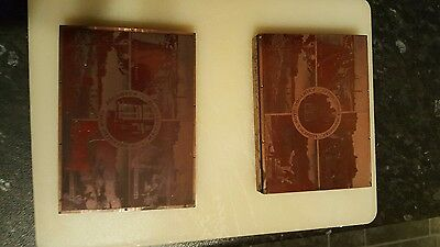 Letterpress Copper Plate Printing Block 2 plates of Southsea