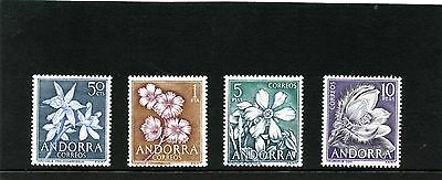 Andorra Spanish 1966 SG 63 - 66 Pyrennean Flowers  Mint hinged
