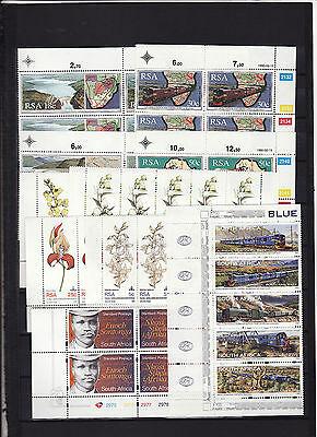 South Africa - 1980/90S 4 Unmounted Mint Sets In Blocks/strips