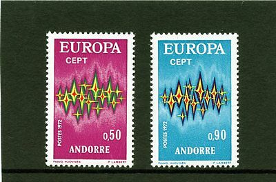 Andorra French 1972 SG F236 F237 Europa  Communications  Mint light hinged