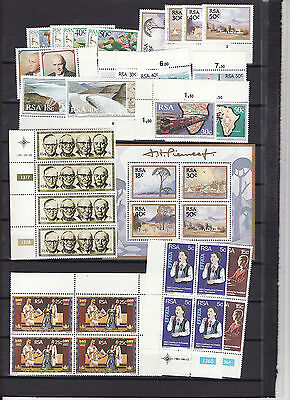 South Africa - 1980S Several Sets Some Blocks + Sheet Unmounted Mint