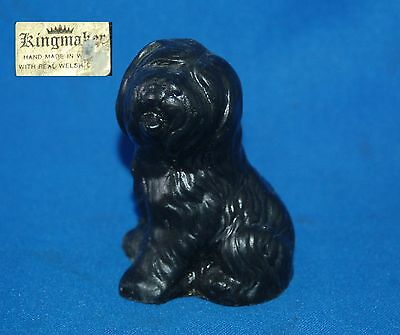 Old English Sheep (Dulux) dog handcarved in Welsh coal by Kingmaker