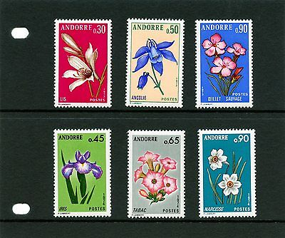 Andorra French 1973 1974 Pyrennean Wild Flowers Mint light hinged