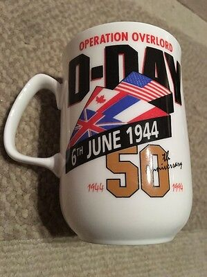 Vintage 50th Anniversary of D-Day 1994 Bone China Mug  James Dean Pottery