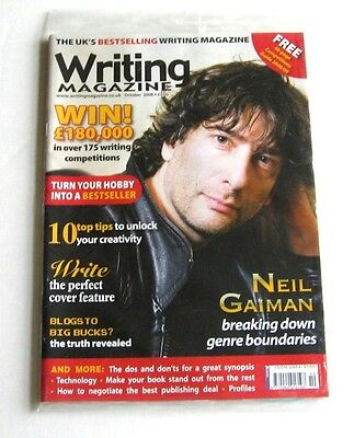 Writing Magazine + Competitons Guide - October 2008 - Neil Gaiman - New!
