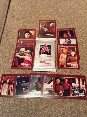 STAR TREK NEXT GEN 1991 25th ANNIVERSARY Trading Cards 1 Pk Unopened + 12 Loose