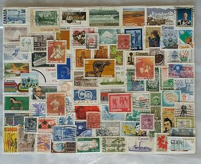 Canada stamp collection assorted used lot of 120