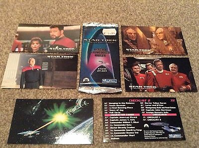 Star Trek Generations Cinema Collection Cards 1 Unopened Pk + 6 Loose By SkyBox