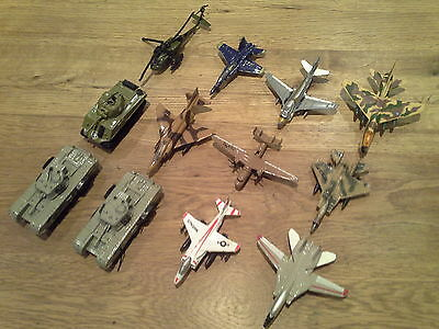 Diecast Metal ARMY TANKS & PLANES & HELICOPTER